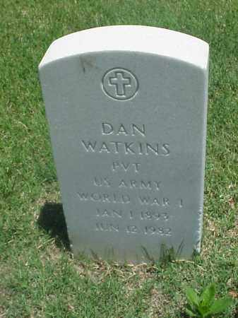 WATKINS (VETERAN WWI), DAN - Pulaski County, Arkansas | DAN WATKINS (VETERAN WWI) - Arkansas Gravestone Photos