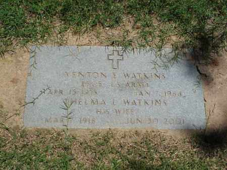 WATKINS (VETERAN WWII), VENTON E - Pulaski County, Arkansas | VENTON E WATKINS (VETERAN WWII) - Arkansas Gravestone Photos
