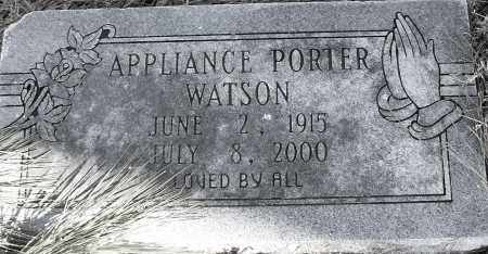 WATSON, APPLIANCE PORTER - Pulaski County, Arkansas | APPLIANCE PORTER WATSON - Arkansas Gravestone Photos