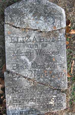 WATSON, ELIZABETH - Pulaski County, Arkansas | ELIZABETH WATSON - Arkansas Gravestone Photos