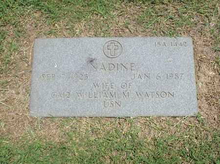 WATSON, NADINE - Pulaski County, Arkansas | NADINE WATSON - Arkansas Gravestone Photos