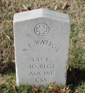 WATSON (VETERAN CSA), B F - Pulaski County, Arkansas | B F WATSON (VETERAN CSA) - Arkansas Gravestone Photos