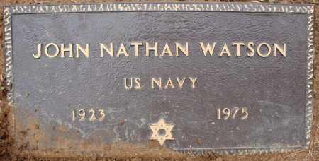 WATSON (VETERAN), JOHN NATHAN - Pulaski County, Arkansas | JOHN NATHAN WATSON (VETERAN) - Arkansas Gravestone Photos