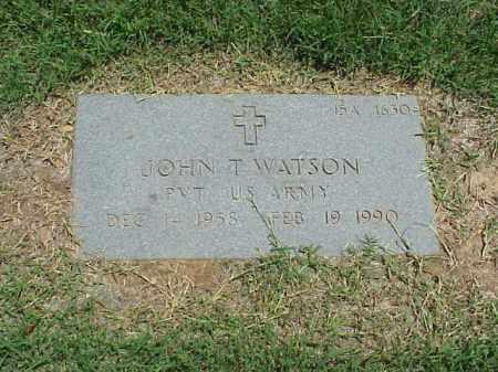 WATSON (VETERAN), JOHN T - Pulaski County, Arkansas | JOHN T WATSON (VETERAN) - Arkansas Gravestone Photos
