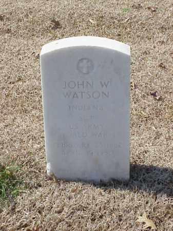 WATSON (VETERAN WWI), JOHN W - Pulaski County, Arkansas | JOHN W WATSON (VETERAN WWI) - Arkansas Gravestone Photos