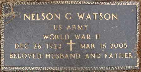 WATSON (VETERAN WWII), NELSON G - Pulaski County, Arkansas | NELSON G WATSON (VETERAN WWII) - Arkansas Gravestone Photos