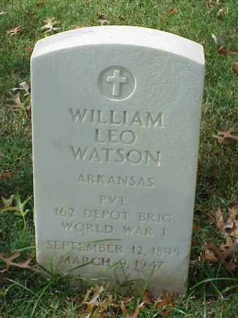 WATSON (VETERAN WWI), WILLIAM LEO - Pulaski County, Arkansas | WILLIAM LEO WATSON (VETERAN WWI) - Arkansas Gravestone Photos