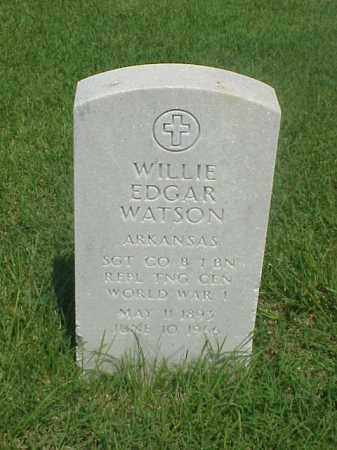 WATSON (VETERAN WWI), WILLIE EDGAR - Pulaski County, Arkansas | WILLIE EDGAR WATSON (VETERAN WWI) - Arkansas Gravestone Photos