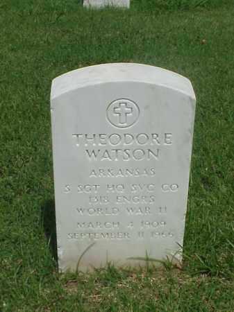 WATSON (VETERAN WWII), THEODORE - Pulaski County, Arkansas | THEODORE WATSON (VETERAN WWII) - Arkansas Gravestone Photos