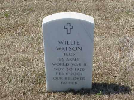 WATSON (VETERAN WWII), WILLIE - Pulaski County, Arkansas | WILLIE WATSON (VETERAN WWII) - Arkansas Gravestone Photos