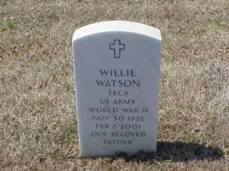 WATSON (VETERAN WWII), WILLIE - Pulaski County, Arkansas | WILLIE WATSON (VETERAN WWII) - Arkansas Gravestone Photos