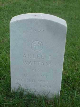 WATTAM (VETERAN WWII), ARLEE E - Pulaski County, Arkansas | ARLEE E WATTAM (VETERAN WWII) - Arkansas Gravestone Photos