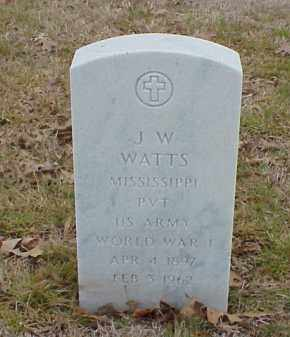 WATTS  (VETERAN WWI), JAMES W - Pulaski County, Arkansas | JAMES W WATTS  (VETERAN WWI) - Arkansas Gravestone Photos