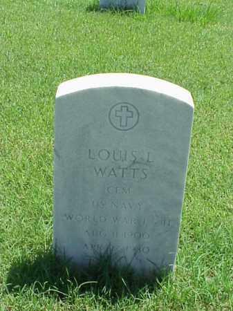 WATTS (VETERAN 2 WARS), LOUIS L - Pulaski County, Arkansas | LOUIS L WATTS (VETERAN 2 WARS) - Arkansas Gravestone Photos