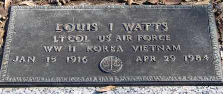 WATTS (VETERAN 3 WARS), LOUIS I - Pulaski County, Arkansas | LOUIS I WATTS (VETERAN 3 WARS) - Arkansas Gravestone Photos