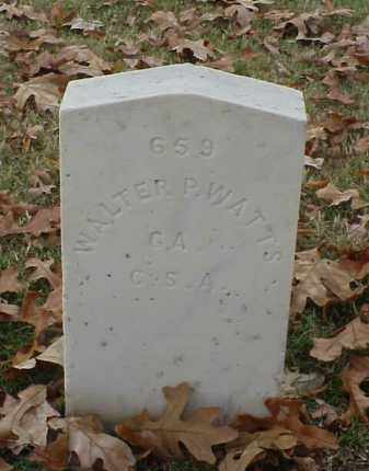 WATTS (VETERAN CSA), WALTER P - Pulaski County, Arkansas | WALTER P WATTS (VETERAN CSA) - Arkansas Gravestone Photos