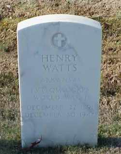 WATTS (VETERAN WWI), HENRY - Pulaski County, Arkansas | HENRY WATTS (VETERAN WWI) - Arkansas Gravestone Photos