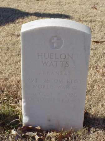 WATTS (VETERAN WWII), HUELON - Pulaski County, Arkansas | HUELON WATTS (VETERAN WWII) - Arkansas Gravestone Photos