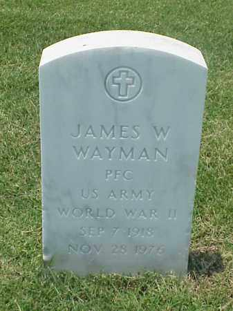 WAYMAN (VETERAN WWII), JAMES W - Pulaski County, Arkansas | JAMES W WAYMAN (VETERAN WWII) - Arkansas Gravestone Photos