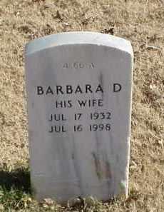 WEAST, BARBARA D - Pulaski County, Arkansas | BARBARA D WEAST - Arkansas Gravestone Photos