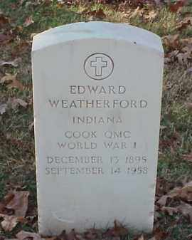 WEATHERFORD (VETERAN WWI), EDWARD - Pulaski County, Arkansas | EDWARD WEATHERFORD (VETERAN WWI) - Arkansas Gravestone Photos