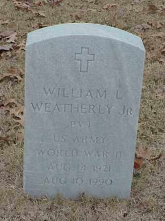 WEATHERLY, JR (VETERAN WWII), WILLIAM L - Pulaski County, Arkansas | WILLIAM L WEATHERLY, JR (VETERAN WWII) - Arkansas Gravestone Photos