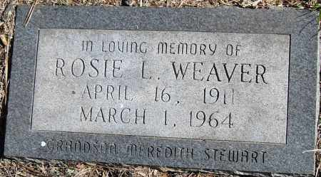 WEAVER, ROSIE L - Pulaski County, Arkansas | ROSIE L WEAVER - Arkansas Gravestone Photos