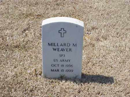 WEAVER (VETERAN), MILLARD M - Pulaski County, Arkansas | MILLARD M WEAVER (VETERAN) - Arkansas Gravestone Photos