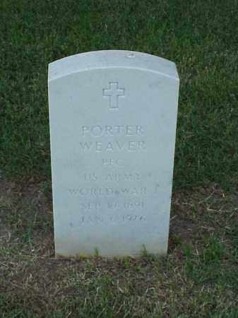 WEAVER (VETERAN WWI), PORTER - Pulaski County, Arkansas | PORTER WEAVER (VETERAN WWI) - Arkansas Gravestone Photos