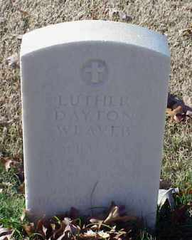 WEAVER (VETERAN WWII), LUTHER DAYTON - Pulaski County, Arkansas | LUTHER DAYTON WEAVER (VETERAN WWII) - Arkansas Gravestone Photos