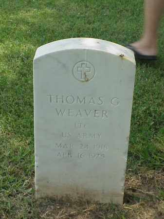 WEAVER (VETERAN WWII), THOMAS G - Pulaski County, Arkansas | THOMAS G WEAVER (VETERAN WWII) - Arkansas Gravestone Photos