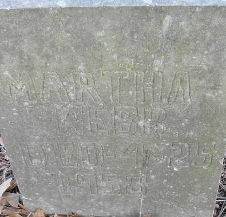 WEBB, MARTHA - Pulaski County, Arkansas | MARTHA WEBB - Arkansas Gravestone Photos