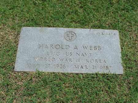 WEBB (VETERAN 2 WARS), HAROLD A - Pulaski County, Arkansas | HAROLD A WEBB (VETERAN 2 WARS) - Arkansas Gravestone Photos