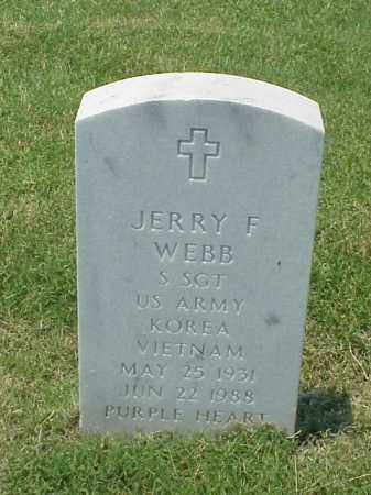 WEBB (VETERAN 2 WARS), JERRY FRANK - Pulaski County, Arkansas | JERRY FRANK WEBB (VETERAN 2 WARS) - Arkansas Gravestone Photos