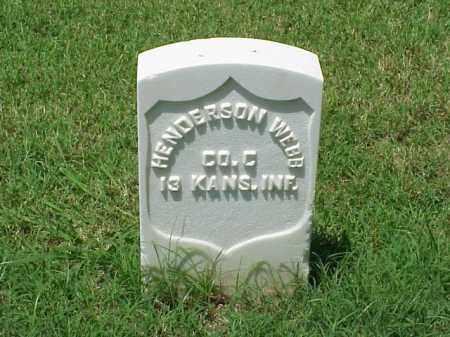 WEBB (VETERAN UNION), HENDERSON - Pulaski County, Arkansas | HENDERSON WEBB (VETERAN UNION) - Arkansas Gravestone Photos