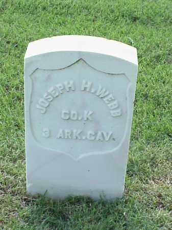 WEBB (VETERAN UNION), JOSEPH H - Pulaski County, Arkansas | JOSEPH H WEBB (VETERAN UNION) - Arkansas Gravestone Photos