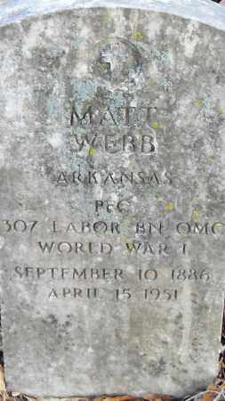 WEBB (VETERAN WWI), MATT - Pulaski County, Arkansas | MATT WEBB (VETERAN WWI) - Arkansas Gravestone Photos