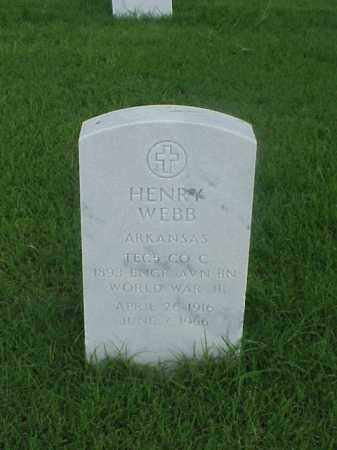 WEBB (VETERAN WWII), HENRY - Pulaski County, Arkansas | HENRY WEBB (VETERAN WWII) - Arkansas Gravestone Photos