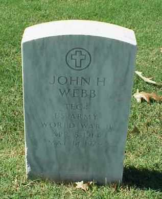 WEBB (VETERAN WWII), JOHN H - Pulaski County, Arkansas | JOHN H WEBB (VETERAN WWII) - Arkansas Gravestone Photos