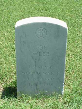 WEBB (VETERAN WWII), JOE - Pulaski County, Arkansas | JOE WEBB (VETERAN WWII) - Arkansas Gravestone Photos