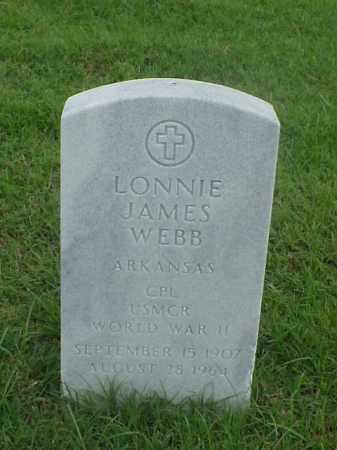 WEBB (VETERAN WWII), LONNIE JAMES - Pulaski County, Arkansas | LONNIE JAMES WEBB (VETERAN WWII) - Arkansas Gravestone Photos
