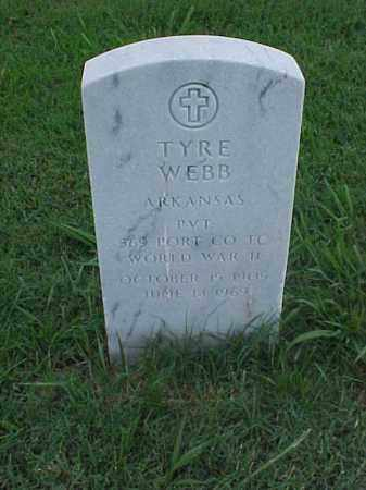 WEBB (VETERAN WWII), TYRE - Pulaski County, Arkansas | TYRE WEBB (VETERAN WWII) - Arkansas Gravestone Photos