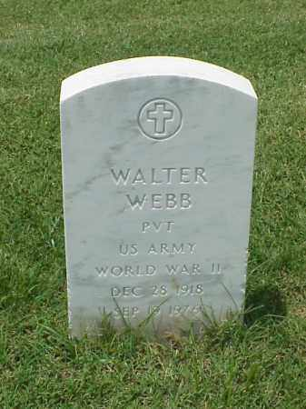 WEBB (VETERAN WWII), WALTER - Pulaski County, Arkansas | WALTER WEBB (VETERAN WWII) - Arkansas Gravestone Photos