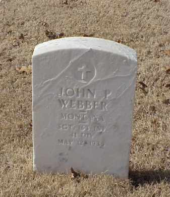 WEBBER (VETERAN WWI), JOHN P - Pulaski County, Arkansas | JOHN P WEBBER (VETERAN WWI) - Arkansas Gravestone Photos