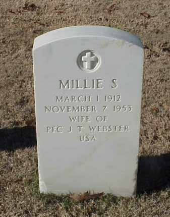 WEBSTER, MILLIE S. - Pulaski County, Arkansas | MILLIE S. WEBSTER - Arkansas Gravestone Photos