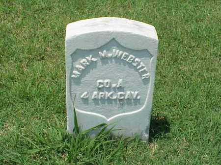 WEBSTER (VETERAN UNION), MARK M - Pulaski County, Arkansas | MARK M WEBSTER (VETERAN UNION) - Arkansas Gravestone Photos