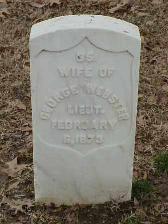 WEBSTER, WIFE - Pulaski County, Arkansas | WIFE WEBSTER - Arkansas Gravestone Photos