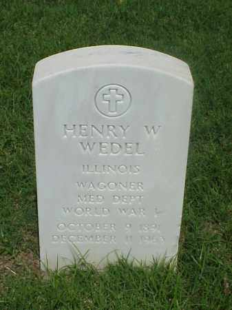WEDEL (VETERAN WWI), HENRY W - Pulaski County, Arkansas | HENRY W WEDEL (VETERAN WWI) - Arkansas Gravestone Photos