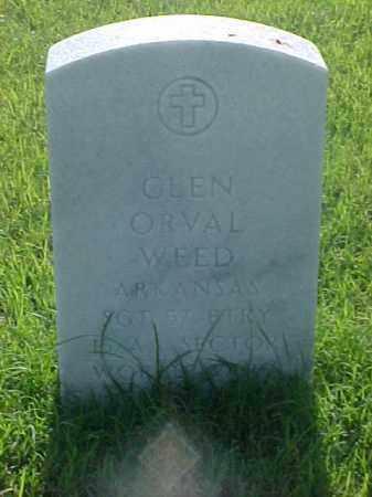 WEED (VETERAN WWI), GLEN ORVAL - Pulaski County, Arkansas | GLEN ORVAL WEED (VETERAN WWI) - Arkansas Gravestone Photos