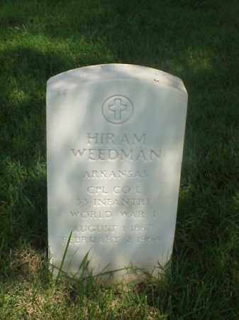 WEEDMAN (VETERAN WWI), HIRAM - Pulaski County, Arkansas | HIRAM WEEDMAN (VETERAN WWI) - Arkansas Gravestone Photos